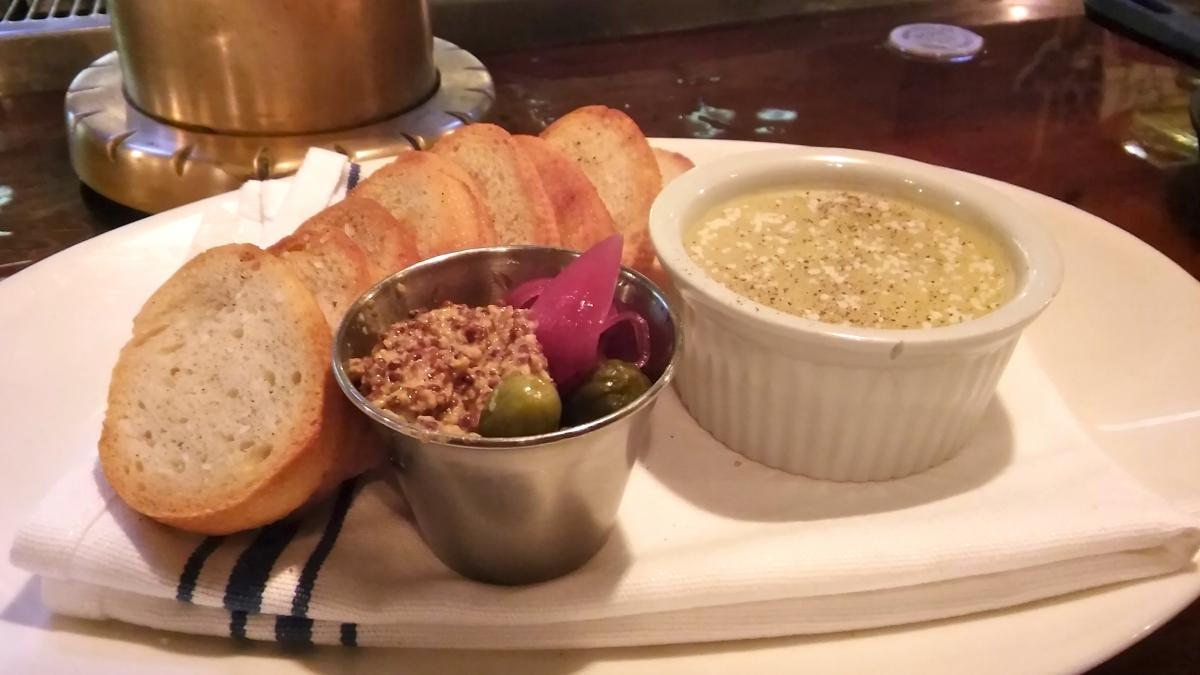 Chicken liver pate hits the spot at Ferry Street. (Photo: Elisha Siegel)